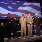 Wounded veterans were honored for their service during this year's program.